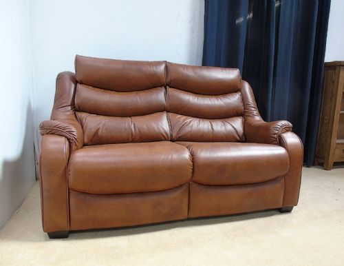 Denver Leather 2 Seater Sofa